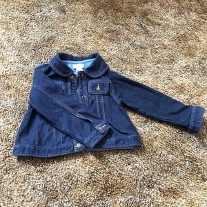 Jeans cotton jacket for toddler girls.